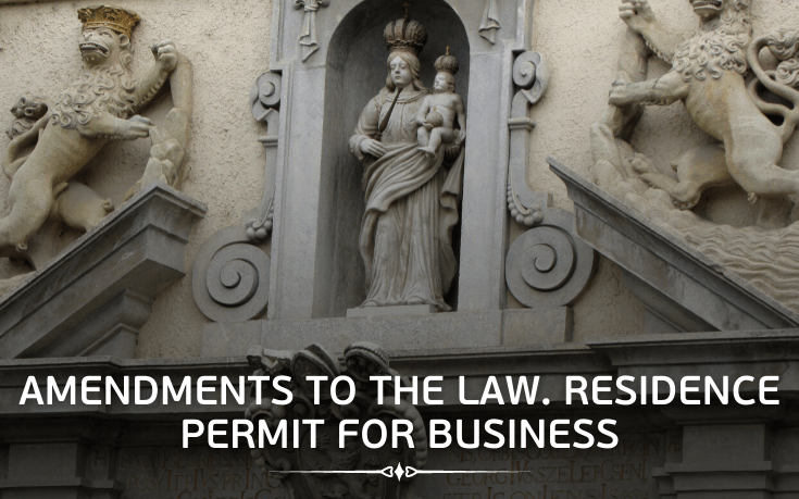 Clarification of amendments to the law. Residence permit for business.