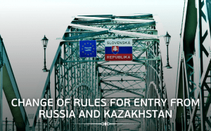 Changes to the rules of entry from Russia and Kazakhstan