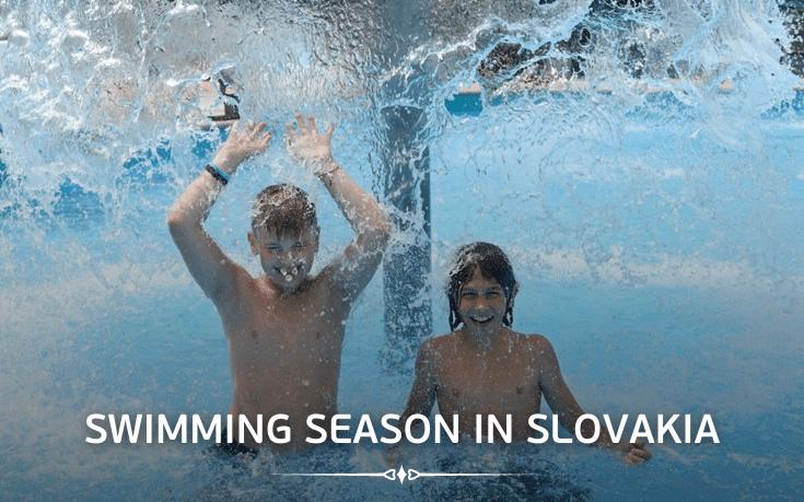 Swimming season in Slovakia