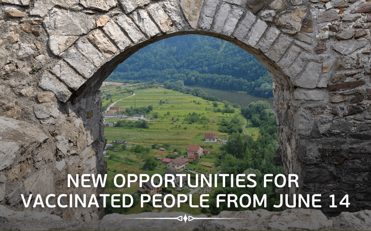 New opportunities for vaccinated from June 14, 2021